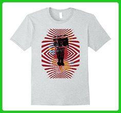 Mens Retro Robot Boombox Fashion T-Shirt 3XL Heather Grey - Retro shirts (*Amazon Partner-Link)