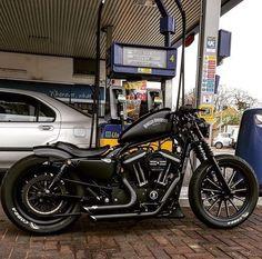 Incredible Useful Ideas: Harley Davidson Fatboy Slim harley davidson sportster videos. Harley Davidson Sportster 883, Harley Davidson Chopper, Harley 883, Sportster Iron, Harley Bobber, Harley Bikes, Harley Davidson Motorcycles, Custom Motorcycles, Custom Bikes