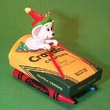 1990 CRAYOLA #2 - SLED Hallmark Ornament Mint in Box | The Ornament Shop