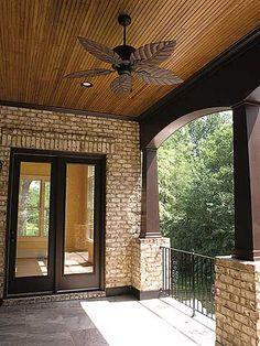 Porch, like dark columns