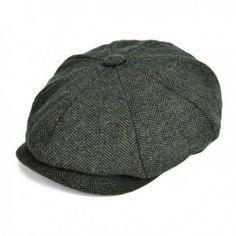 d6891efc6a2 VOBOOMClassic 8 Panel Wool Tweed newsboy Gatsby IVY Cap Golf Cabbie Driving  Hat - Dark Green