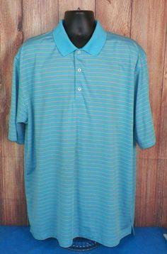 Donald Ross Mens Blue Striped Short Sleeve Golf Polo Shirt Size XXL #3 #DonaldRoss #PoloRugby