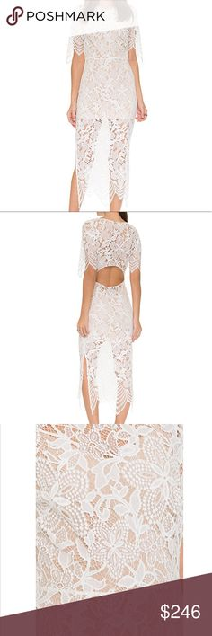 NWT For Love and Lemons Luna Dress, Size S White New with tags, purchased from Zappos  NWT For Love and Lemons Luna Dress, Size S White For Love And Lemons Dresses Maxi