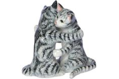 SALT and PEPPER Shakers CATS Grey n White Tiger Tabby Kittens Hug MINIATURE New Porcelain KLIMA L912 by Klima. $27.99. Made Thailand, MINT Brand New Condition. Tiger Striped Cats. 3H x 2W inches, L912. All Salt & Pepper are individually boxed. MINIATURE in Size, Huge in Details. A NEW Hand-Painted Miniature Porcelain FIGURINE, No. L912, from KLIMA. The Klima factory in France has been producing unique miniature porcelain animals for 25 years. Each model is produced by ha...
