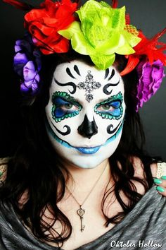 Day of the Dead Sugar Skull makeup :-)