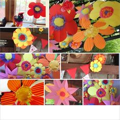 A colorful addition to a Mexican fiesta. #paperflowers #fiesta #DIY