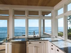 Modern Kitchen Design - Alu Clad Wood Casement Windows by Signature