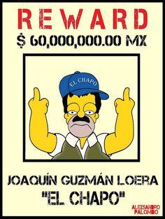 'El Chapo' And Enrique Peña Nieto Get 'Simpsonized' by aleXsandro Palombo Pablo Escobar, Chapo Guzman, Mexican Problems, Simple Canvas Paintings, Rapper Art, Gangsta Girl, Dope Art, Mexican Art, Men's T Shirts