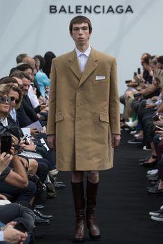 Demna Gvasalia presented his first menswear collection for Balenciaga during Paris Fashion Week.