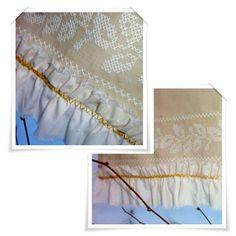 crochet border ,  ozdobna ściereczka