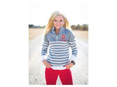Ohio State Buckeyes NCAA Women's 1/4 Zip Sweater