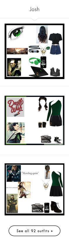 """Josh"" by thin-mint on Polyvore featuring Razer, Timberland, Topshop, T By Alexander Wang, West Coast Jewelry, Majesty Black, Converse, Alexander Wang, Madden Girl and Wildfox"