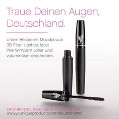 Believe your eyes, Germany. Our best-selling product, Moodstruck 3D Fiber Lashes, improves the appearance of thickness and volume to your lashes. The results are AMAZING!!! Click here to learn more about Younique products and the business opportunity coming to Germany AUG 1st!!!   #Germany #mascara #bestever #makeup #confidence #beautiful #germanwomen #ladies #ownbusiness #stayathomemom #love #career #bestjob