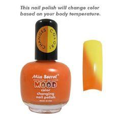 Mia Secret Mood Nail Lacquer Color Changing Nail Polish Papaya To Mango