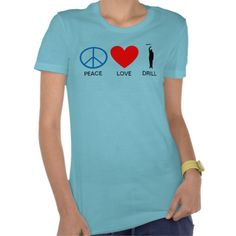 Women's PEACE LOVE DRILL T!