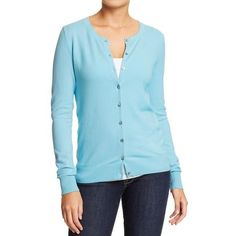 Old Navy Womens Button Front Stretch Cardis ($25) ❤ liked on Polyvore