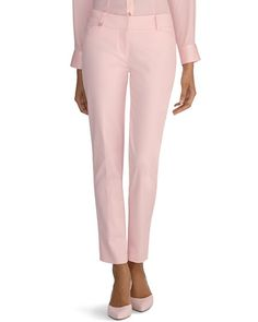 White House | Black Market Pink Perfect Form Ankle Pants #whbm