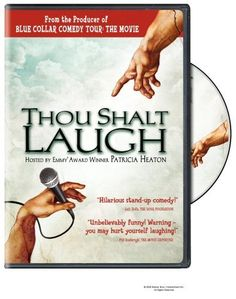 Thou Shalt Laugh DVD ~ Patricia Heaton, http://www.amazon.com/dp/B000HEWEIK/ref=cm_sw_r_pi_dp_IAxqsb0A14RYD    The 'clean' stand up comedy tour.This is so funny,and I've lost count how many times we've watched it!