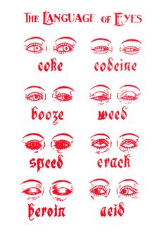 These are your eyes on drugs.