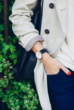 "Daniel Wellington watch. Classic, simple chic everyday watch. Use the code ""Classyinthecity"" to get 15% off all products at www.danielwellington.com"