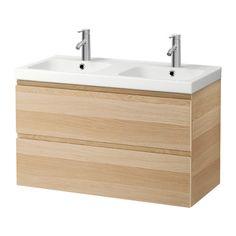 GODMORGON / ODENSVIK Mosdószekr 2 fiókkal,csapt.nélk IKEA 10 ÉV GARANCIA. A garancia feltételeiről bővebben a garanciafüzetben olvashatsz.