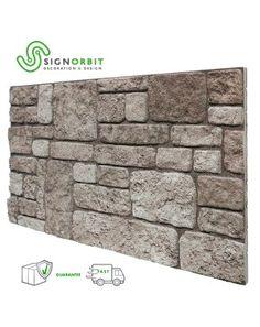 pannello finta pietra ricostruita effetto 3d superficie verniciabile