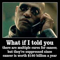 HAVE YOU BEEN LIVING UNDER A ROCK? All is not what it seems:  http://www.naturalcuresnotmedicine.com/p/cure-cancer.html