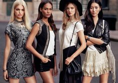 Daphne Groeneveld, Joan Smalls, Lindsey Wixson and Liu Wen for H & M