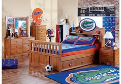 picture of NCAA Creekside 5 Pc Twin Bookcase Bedroom from Boys' Bedroom Sets Furniture