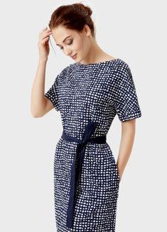 Платье из хлопка в микропринт