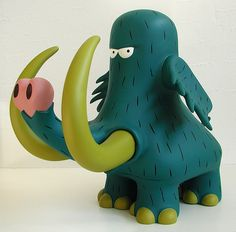 gon the stone aged boy figure: mammoth (blue version) by j_pidgeon, via Flickr