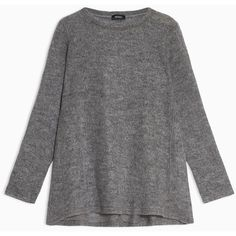 MAX&Co. Mohair gauze A-line jumper (2 280 UAH) ❤ liked on Polyvore featuring tops, sweaters, dark grey, mohair sweaters, mohair jumper, asymmetric top, gauze tops and dark grey sweater