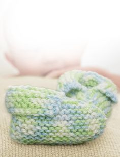 Sweet knit baby booties for new arrivals.