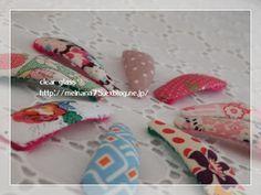 ★ヘアピン(パッチン留め)の作り方★ : clear glass ** Handmade Baby, Handmade Crafts, Diy And Crafts, Diy Accessories, Hair Band, Hair Clips, Diy Jewelry, Bobby Pins, Sewing Crafts