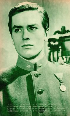 ALAIN DELON in uniform late 1950's-1960's Iconic French actor heart-throb (Japan…