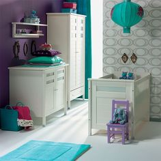 Purple Grey Turquoise Nursery Baby Room Decor Bedroom