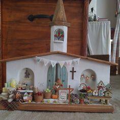 #miniture#ミニチュア#くま#テディベア#ドールハウス#教会#church#fermers market#ファーマーズマーケット#レモネード#lemonade stand