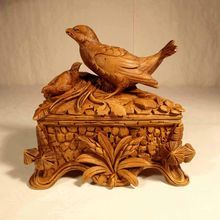 Gorgeous Hand Carved Wooden Jewelry Casket, Black Forest, ca. Black Forest Wood, Twig Furniture, Chip Carving, Wooden Jewelry, Jewelry Box, Forest Design, Woodworking Box, Hand Carved, Carved Wood