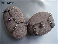 """Joli bracelet à breloques thème """"Dressing"""" : Bracelet par hortavie"""