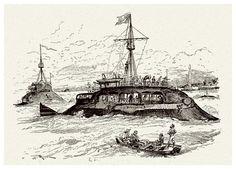 022-La nueva marina-Le Vingtième Siècle 1883- Albert Robida | Null Entropy
