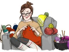 my idea of the perfect way to spend the winter, except with a crochet hook, not knitting needles...