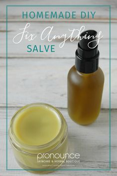 'Fix Pretty Much Anything Salve' A DIY Healing Salve - From cuts to scrapes to burns to cuts to eczema patches, this Fix Pretty Much Anything DIY Healing Salve will have you feeling better in no time!