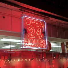 Street Signs for Kids: Neon Open 24 Hours Sign