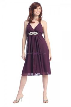 Sexy A-Line/Princess Halter Zipper Up Sleeveless Chiffon Homecoming Dresses HD14E2
