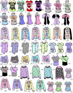 -CLOSED- Pastel goth shirts by Guppie-Adopts on deviantART
