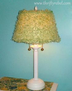 Cheap Lamp Shades Adorable Createinspire Lamp Shade Makeover  Upcycled Lampsshades Inspiration Design