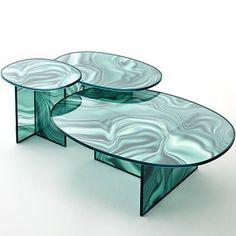 TablesLiquefy, de Patricia Urquiola pour Glas Italia. expo milan
