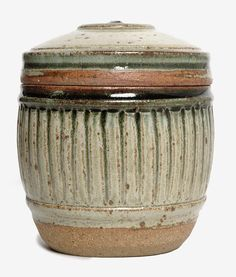 Richard Batterham, Lidded pot with an e...