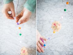 Step-by-step instructions to create your own holiday umbrella garland