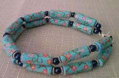 "Bracciale ""Floreal Washi""! Washi Tape bracelet paperbeads with washi tape"
